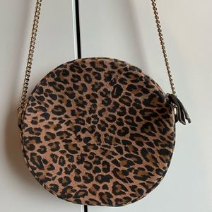 & Other Stories Leopard Suede Circle Bag